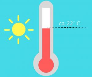 ca. 22° C