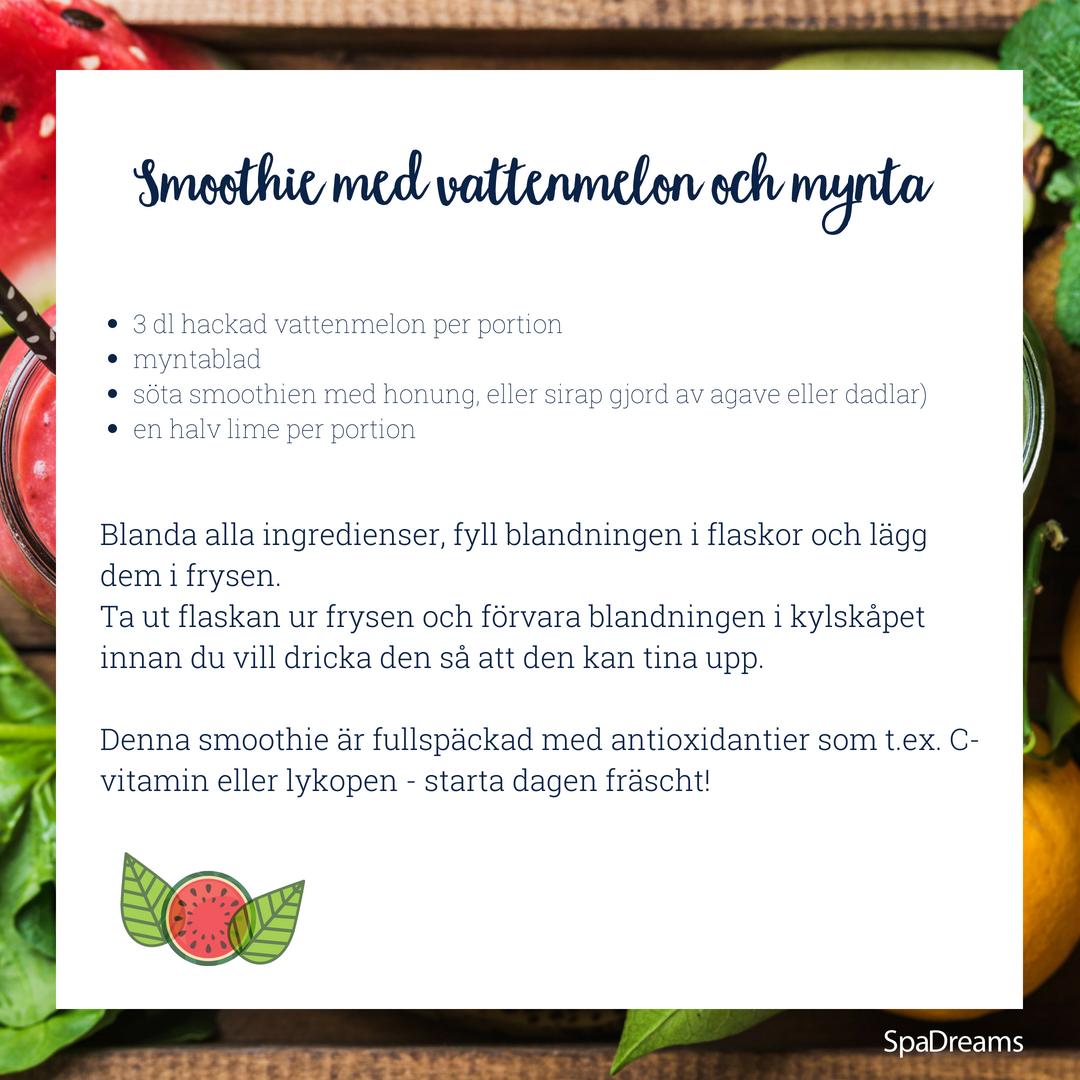 Vattenmelon- och mynta smoothie