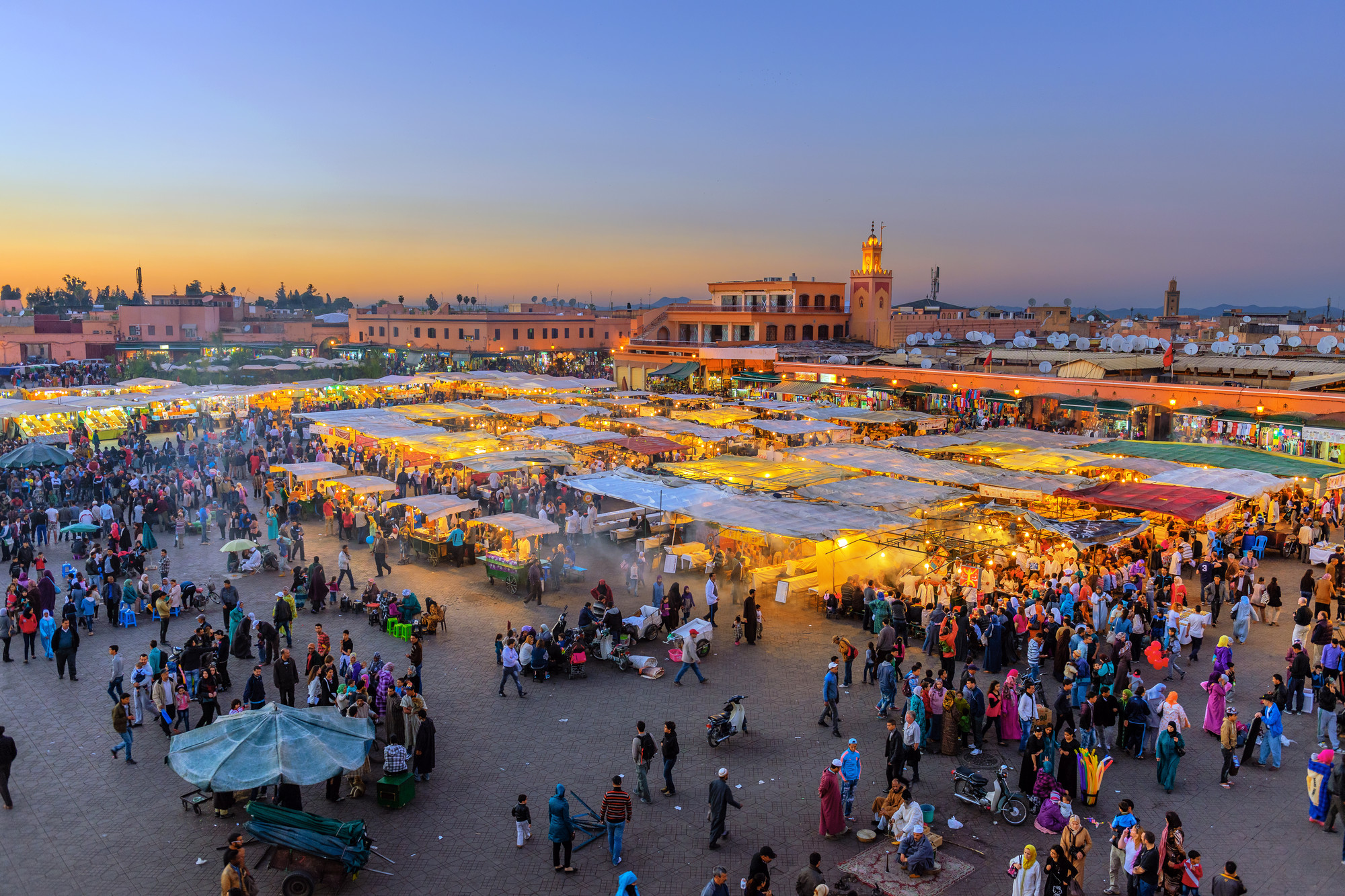 Marocko Djemaa El Fna Square Marrakech